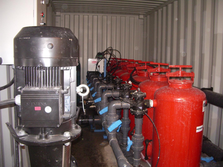 Semeo traitement mobile eaux location filtre à sable