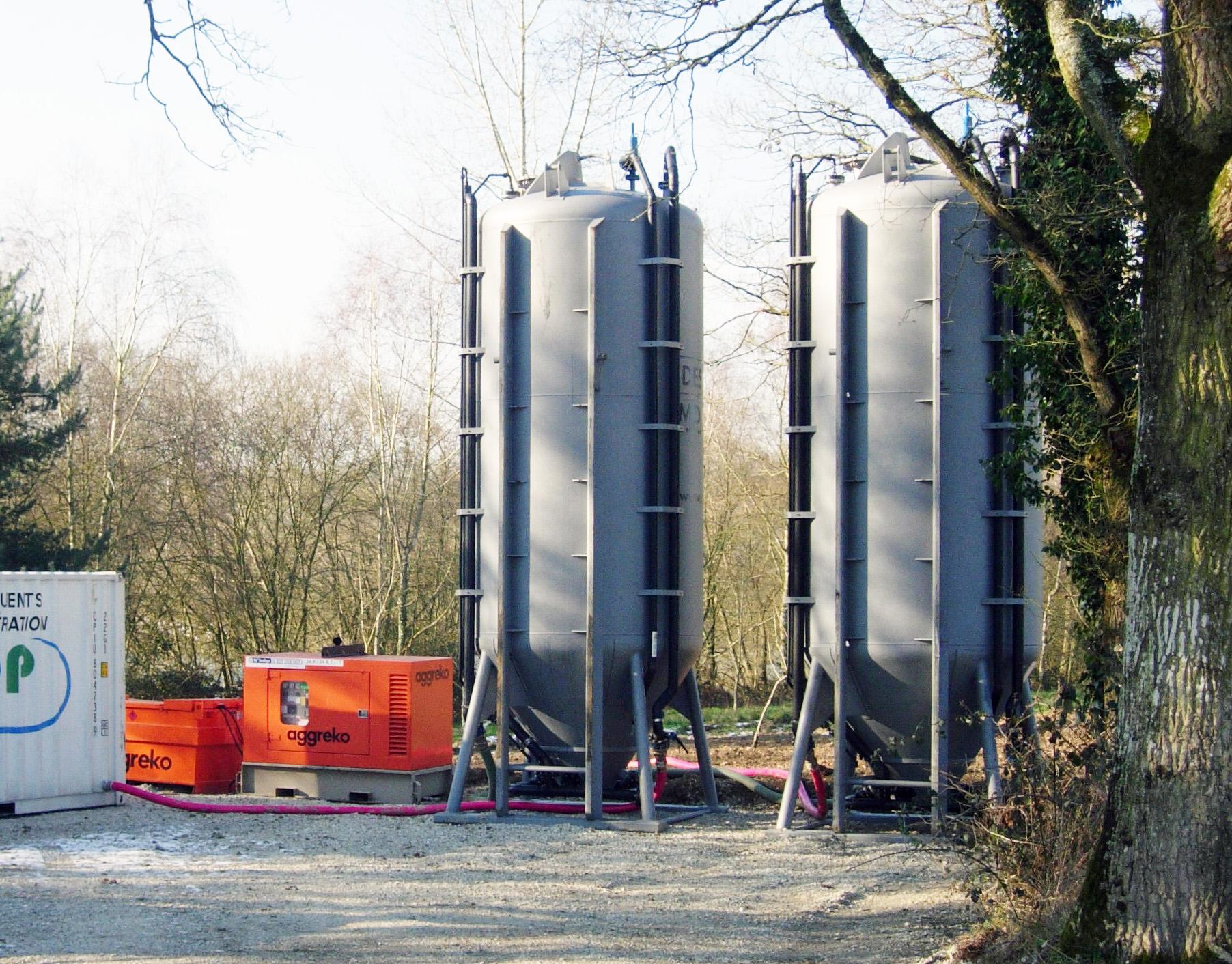 Semeo traitement mobile eaux location flottateur filtre à charbon